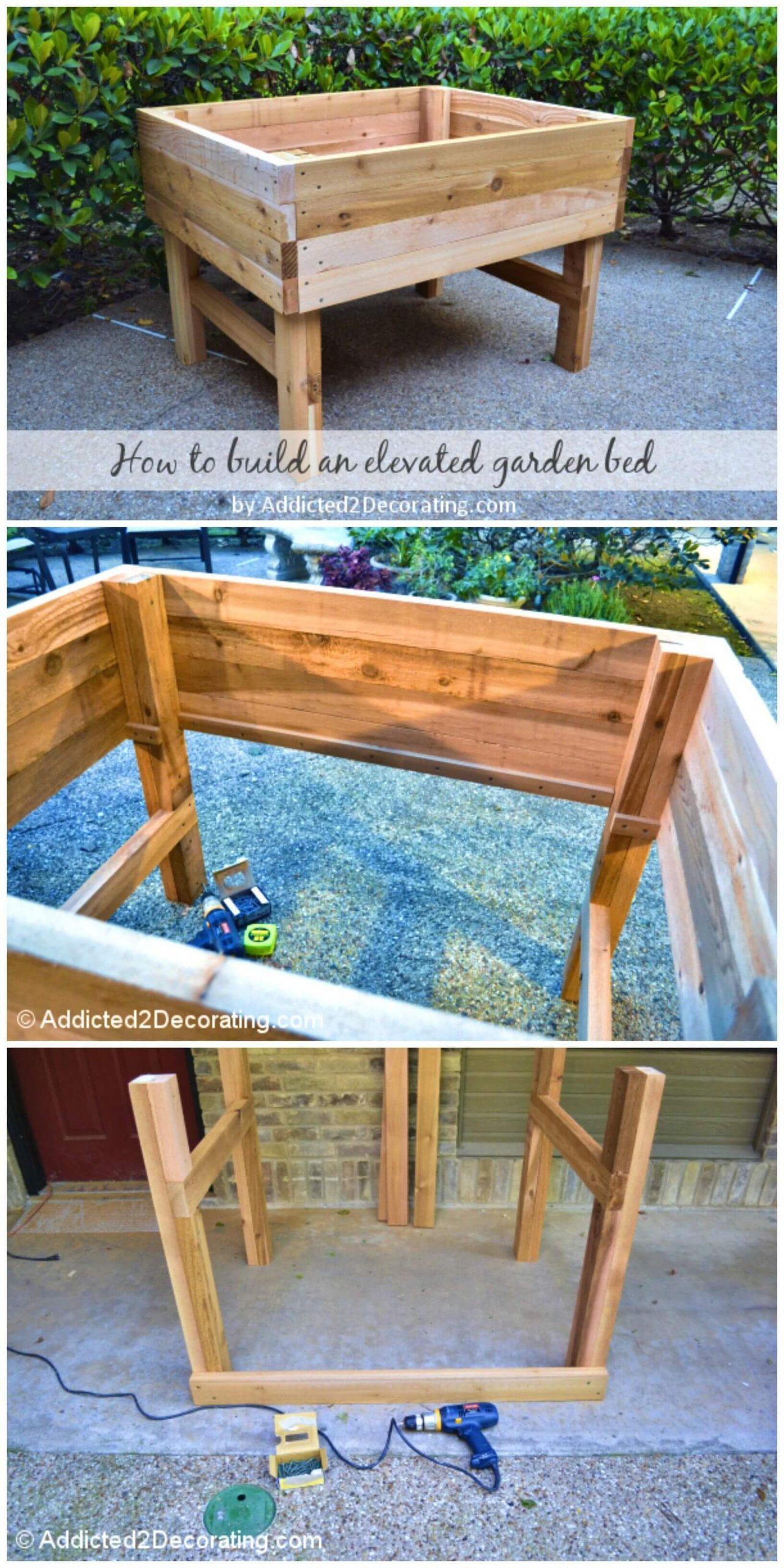 Adorable DIY Elevated Garden Bed