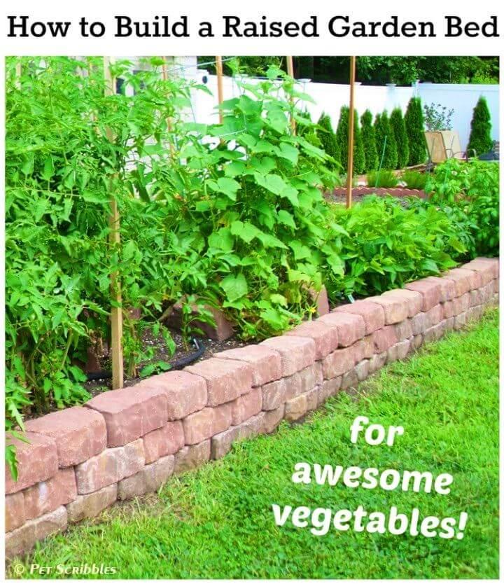 Adorable DIY Raised Garden Bed for Vegetables