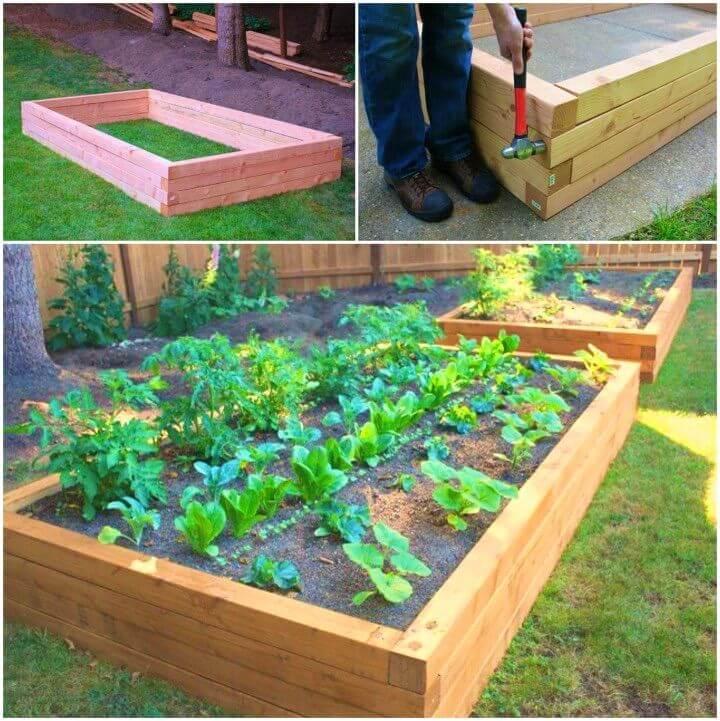 Build Your Own Wooden Raised Bed Garden