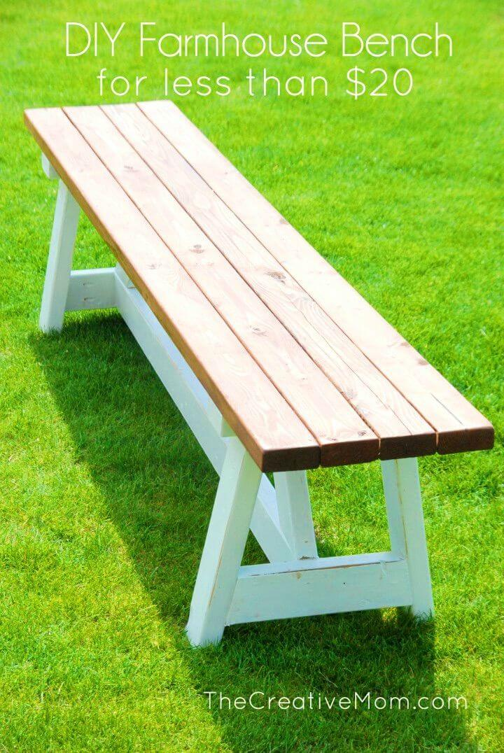 Build a Farmhouse Bench for Under