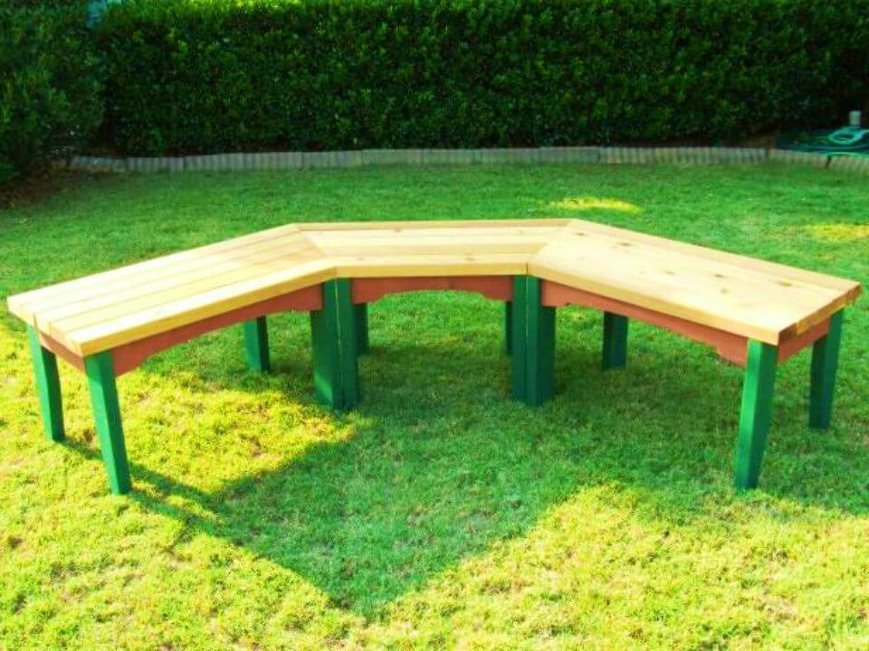 Build a Semi circular Wooden Bench