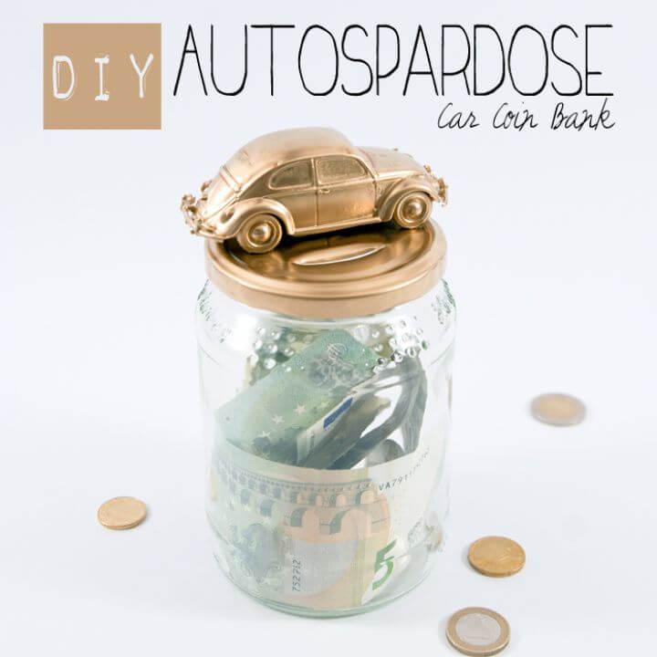 DIY Autospardose Mason Jar Coin Banks