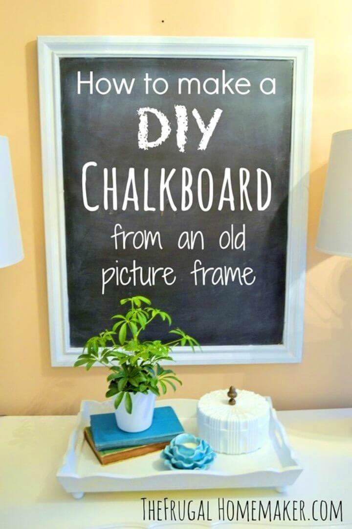 DIY Chalkboard From an Old Picture Frame