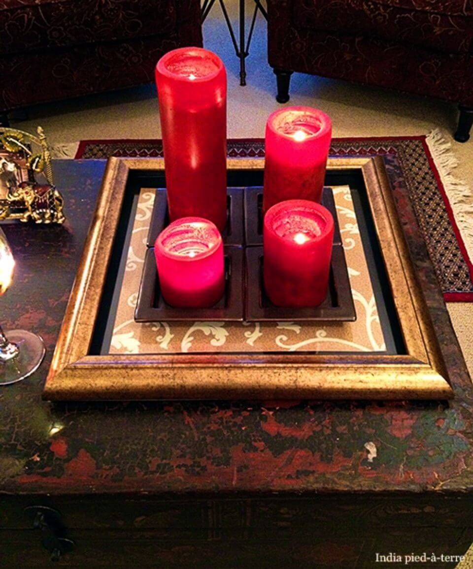 DIY Coffee Table Tray with Picture Frame