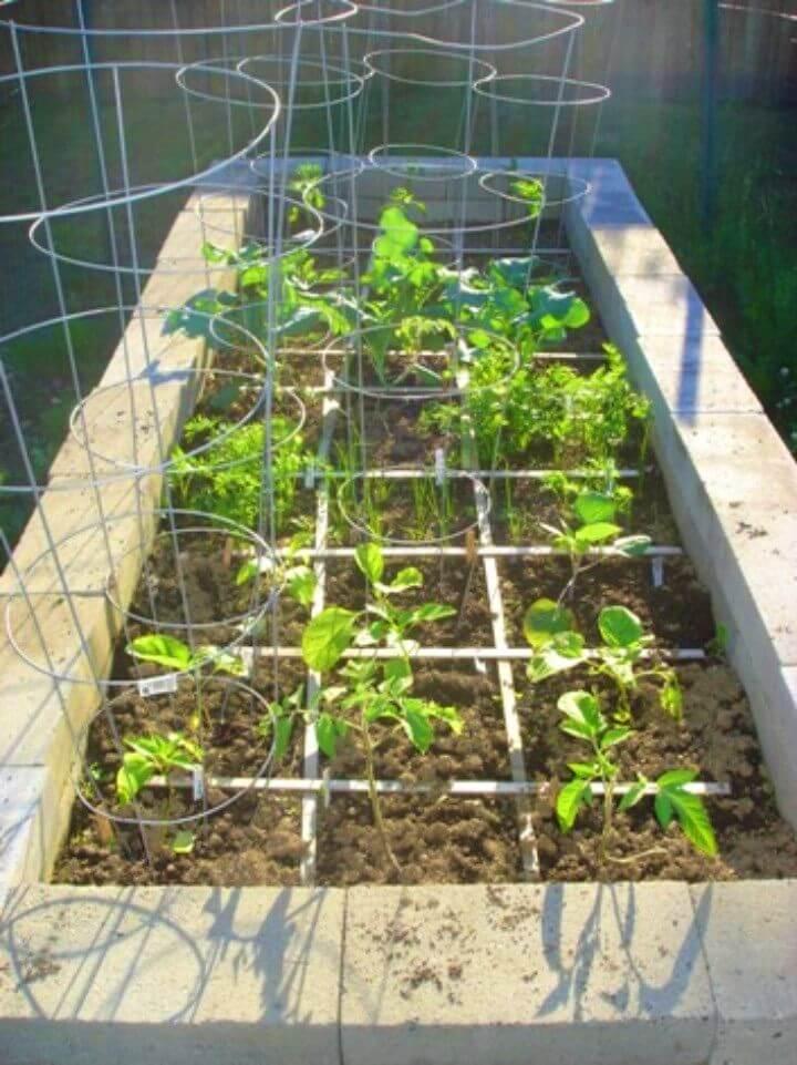 DIY Concrete Block Raised Bed Garden