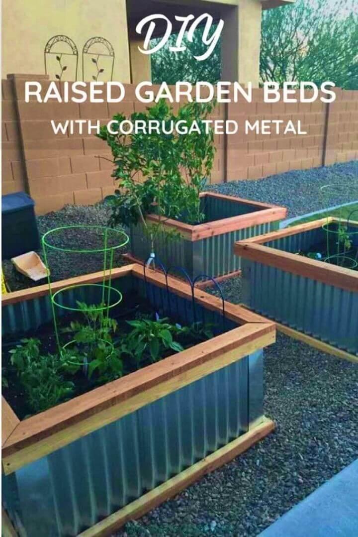 DIY Corrugated Metal Raised Garden Beds