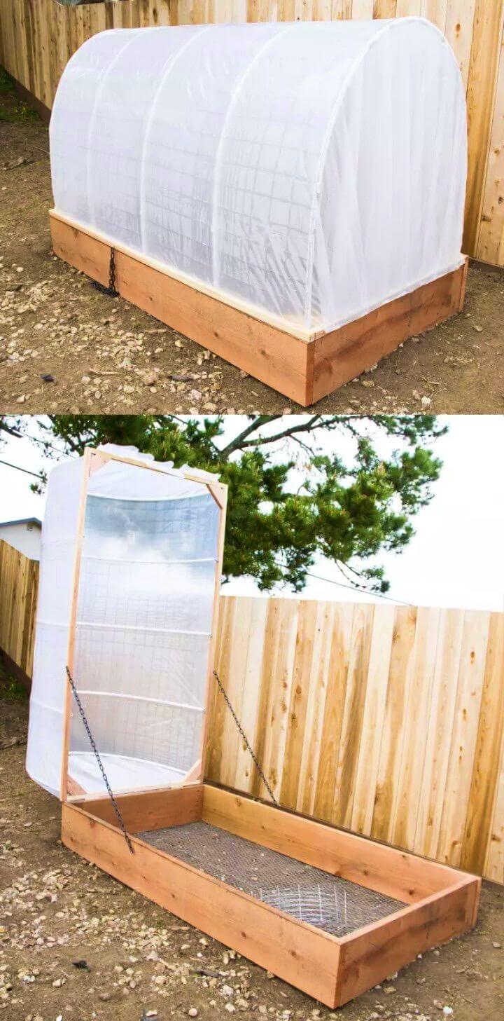 DIY Covered Greenhouse PVC Garden