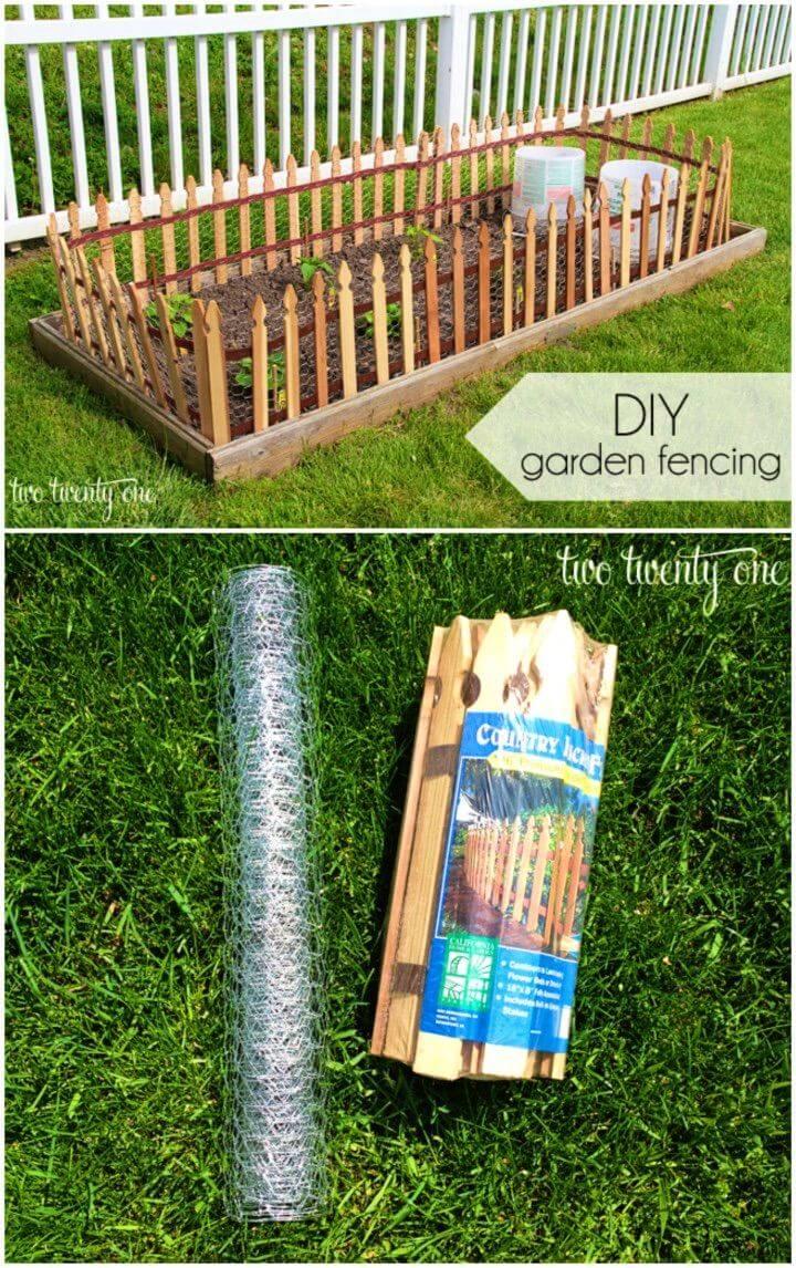 DIY Fencing Raised Garden Beds