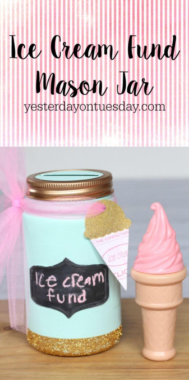 DIY Ice Cream Fund Mason Jar Printable Art