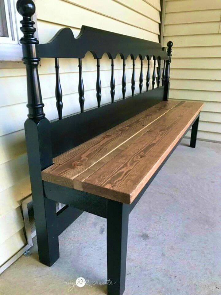 DIY Kingsize Headboard Bench