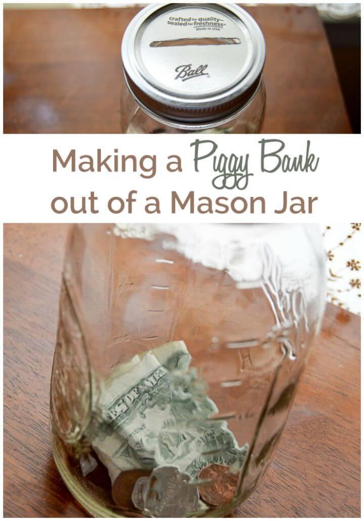 DIY Piggy Bank Out Of A Mason Jar