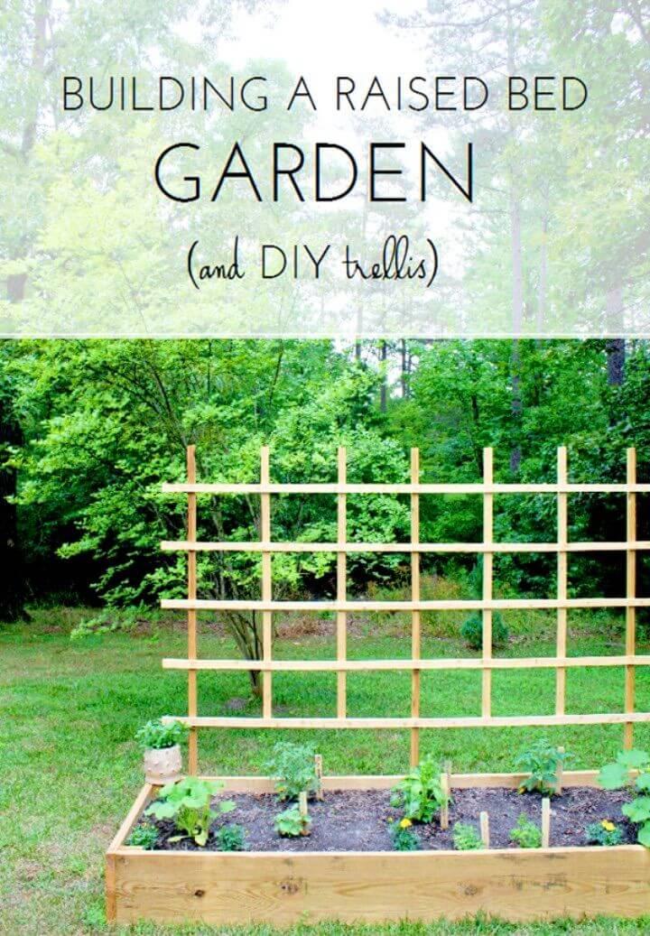 DIY Raised Bed Garden Trellis