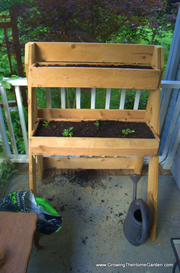 DIY Raised Multi Leveled Garden Planter Box