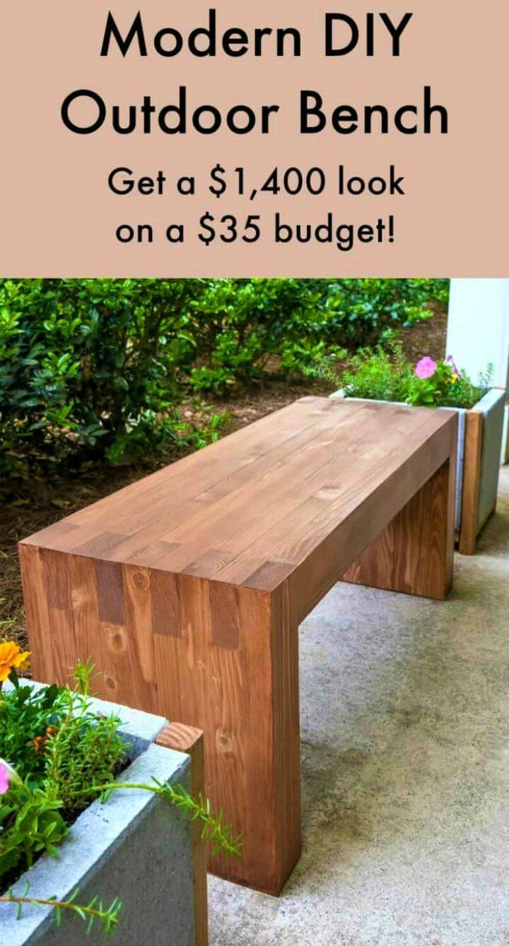 DIY Williams Sonoma Inspired Outdoor Bench
