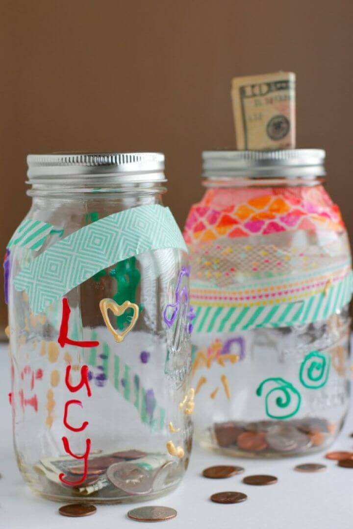 How To Decorate a Mason Jar Bank