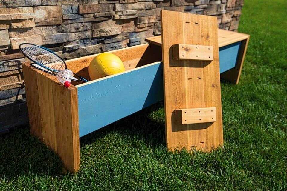 How to Build Outdoor Storage Bench
