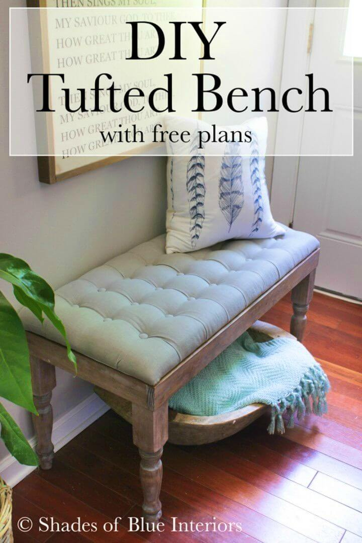 How to Build Tufted Bench