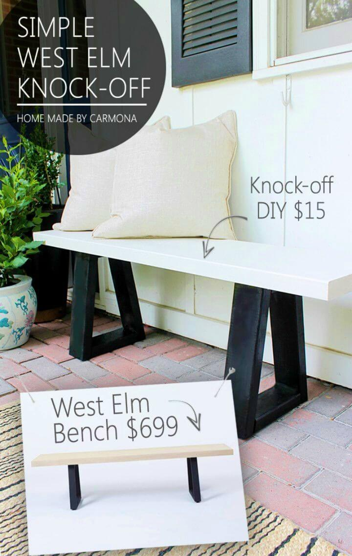 How to Build West Elm Bench Knock off