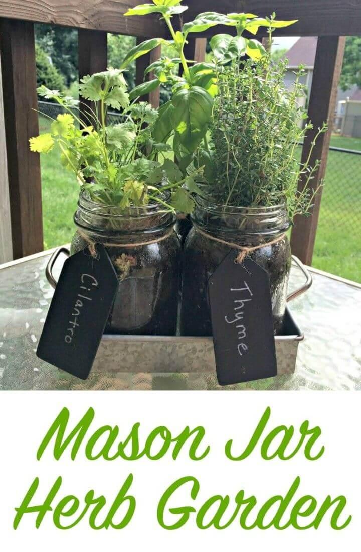 How to DIY Mason Jar Herb Garden