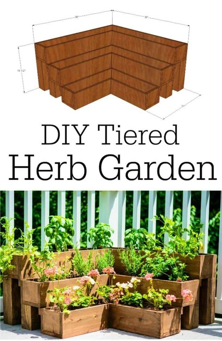 How to DIY Tiered Herb Garden