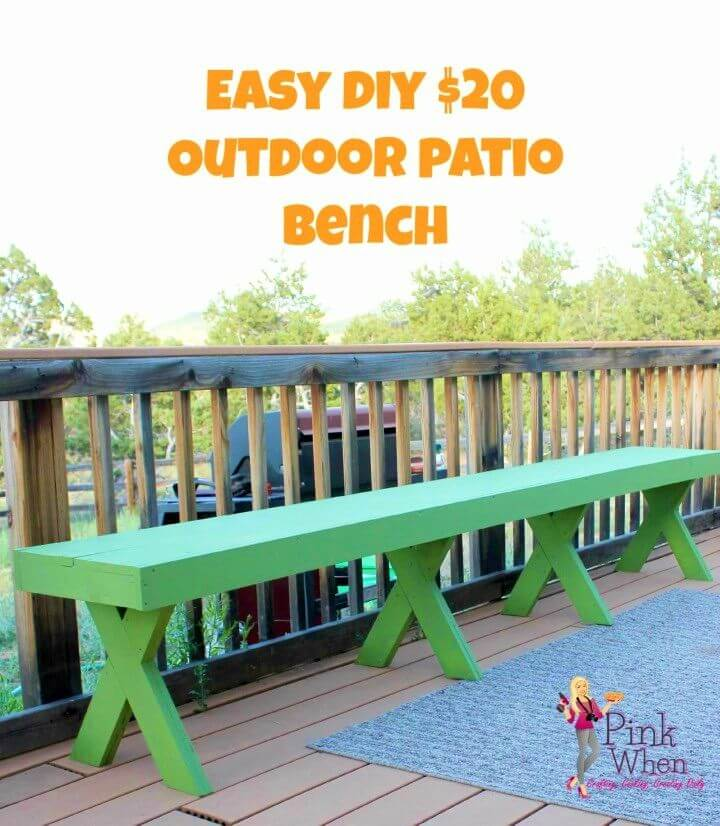 How to Make Outdoor Patio Bench