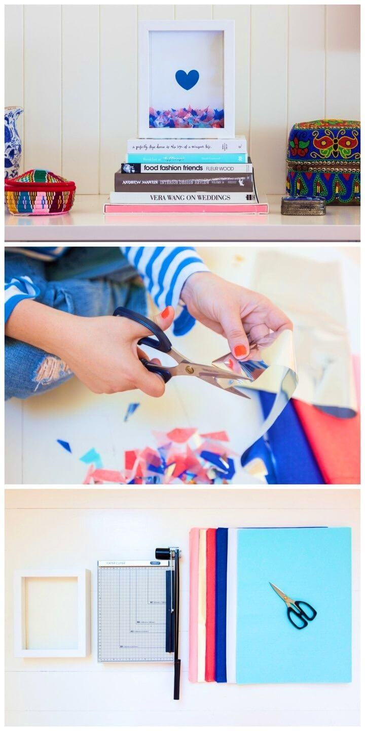 How to Make Confetti Filled Frame