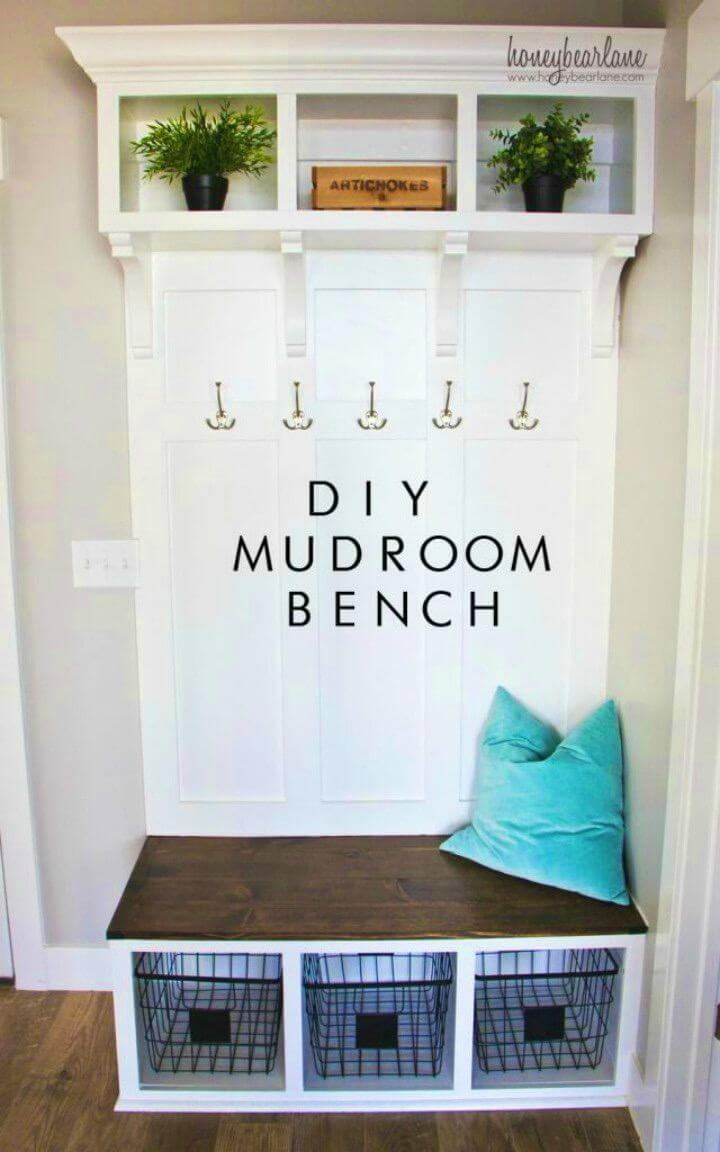 How to Make Mudroom Bench