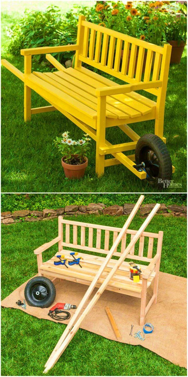 How to Make Wheelbarrow Bench