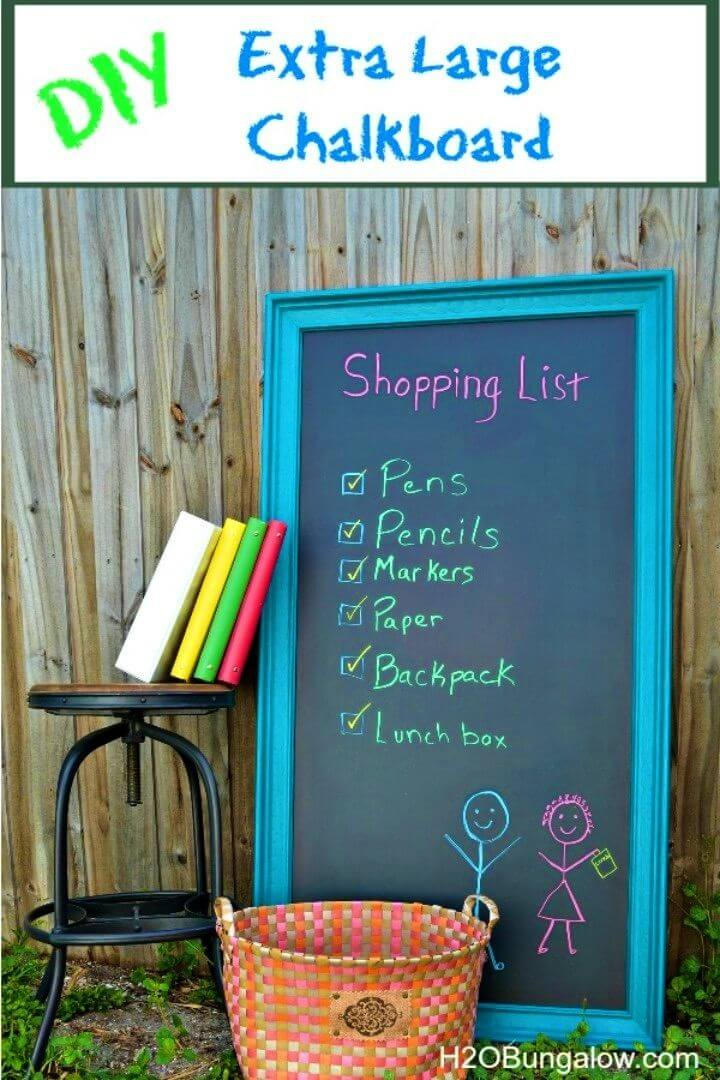 How to Make a Large Chalkboard
