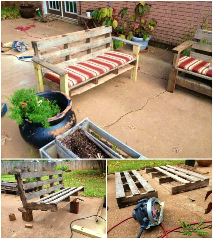 How to Turn a Pallet Into an Outdoor Patio Bench