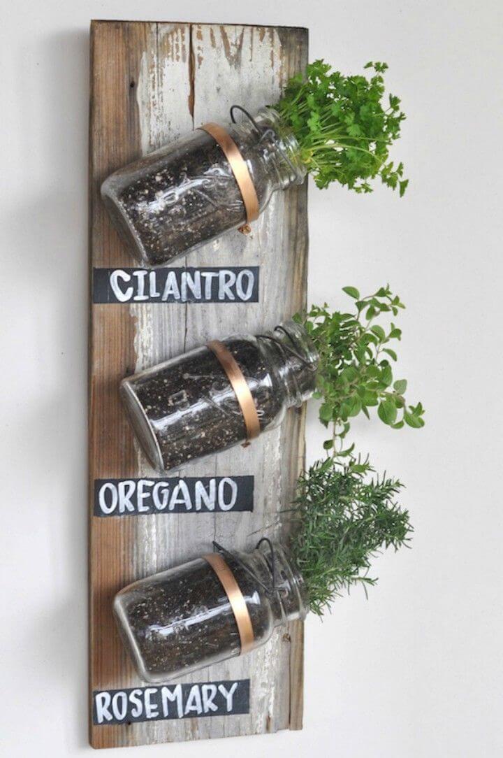 Make Mason Jar Herb Garden