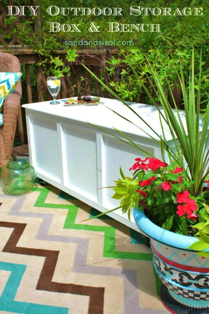 Make Outdoor Storage Box and Bench