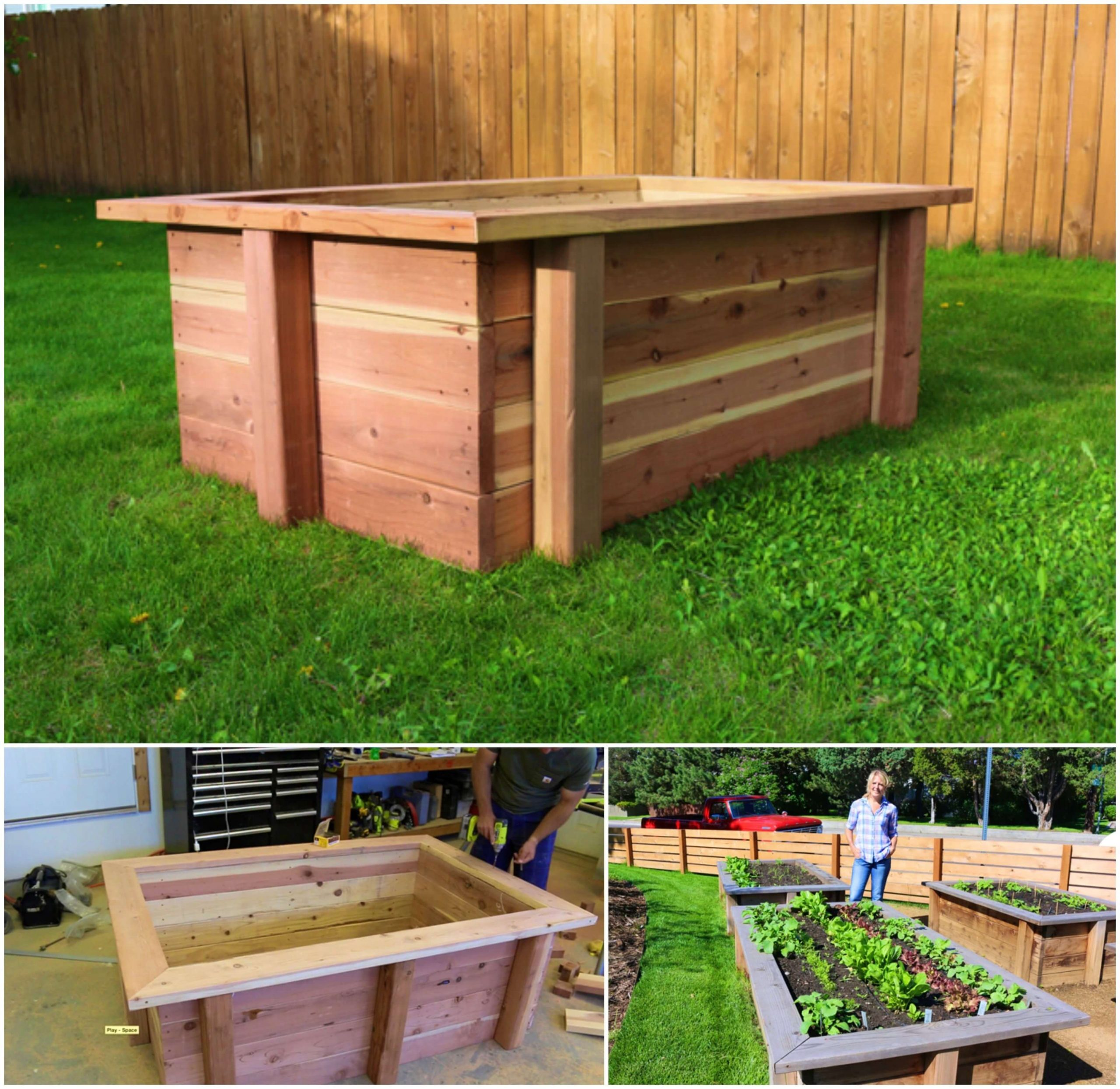 Make a Raised Bed For Planting Flowers Or Vegetables