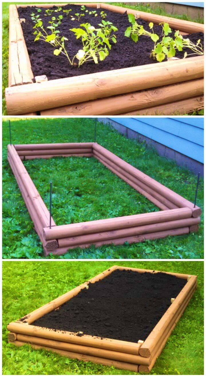 Make a Raised Garden Bed With Landscaping Timbers