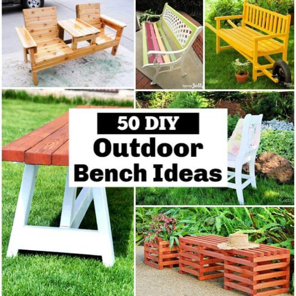 Outdoor Bench Ideas That You can Build with Wood diy outdoor bench Garden Bench DIY Outdoor Bench Plans DIY Furniture 1