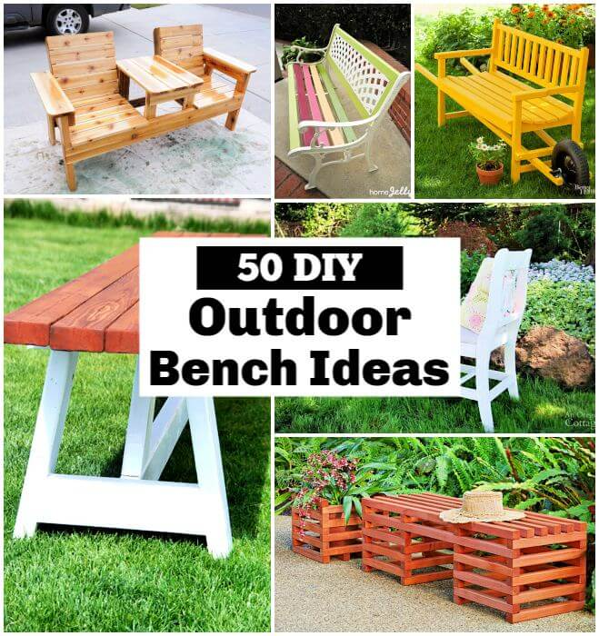 Outdoor Bench Ideas That You can Build with Wood diy outdoor bench Garden Bench DIY Outdoor Bench Plans DIY Furniture