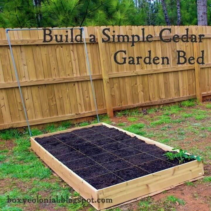 Simple DIY Cedar Raised Garden Bed