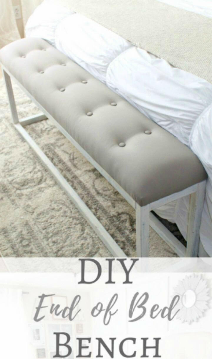 Simple DIY End of Bed Bench