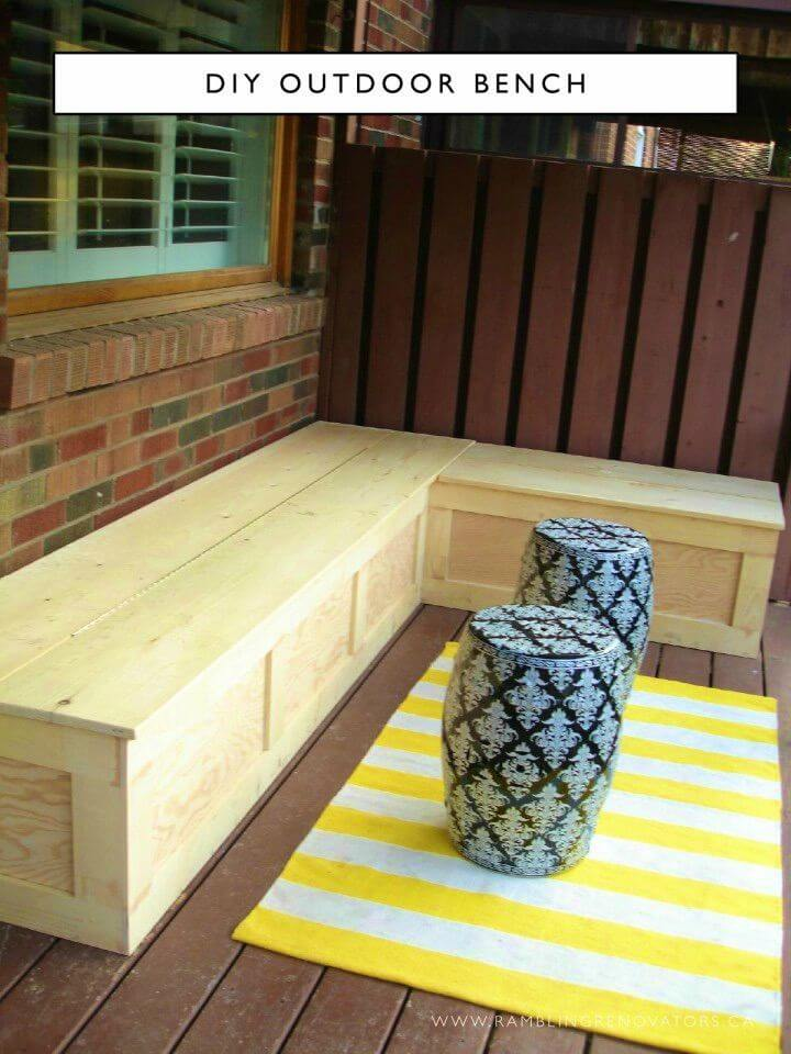 Simple DIY Outdoor Bench