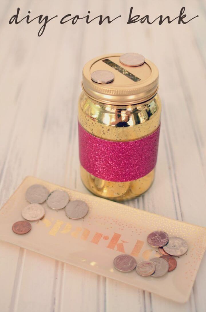 Sparkle Shine DIY Mason Jar Coin Bank