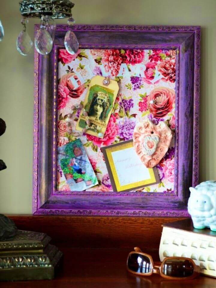 Turn a Picture Frame into a Cork Message Board