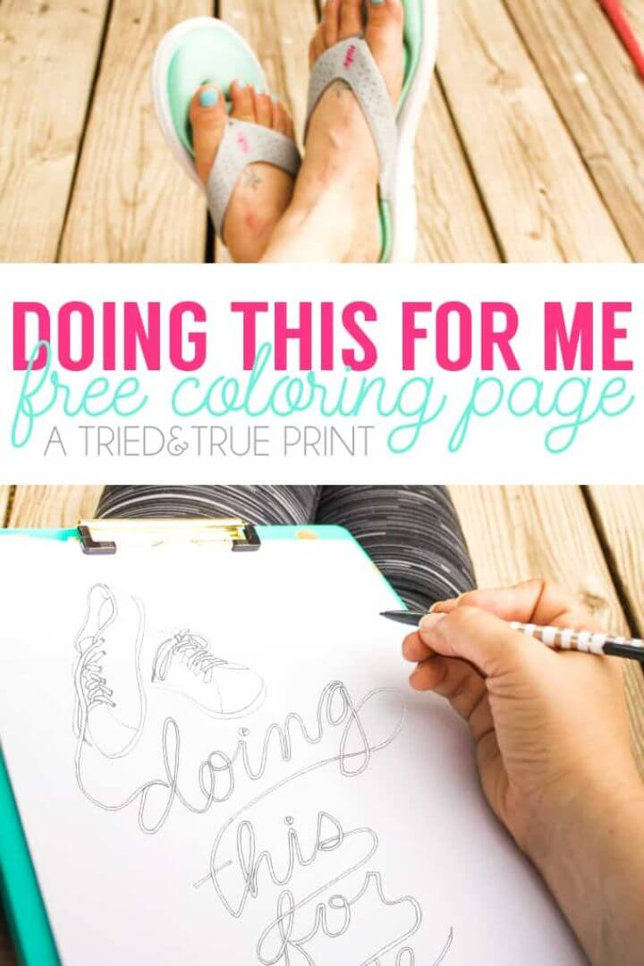 """""""Doing This For Me"""" Free Coloring Page"""