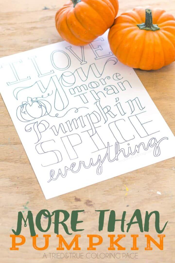 """""""MORE THAN PUMPKIN"""" Free Coloring Page"""