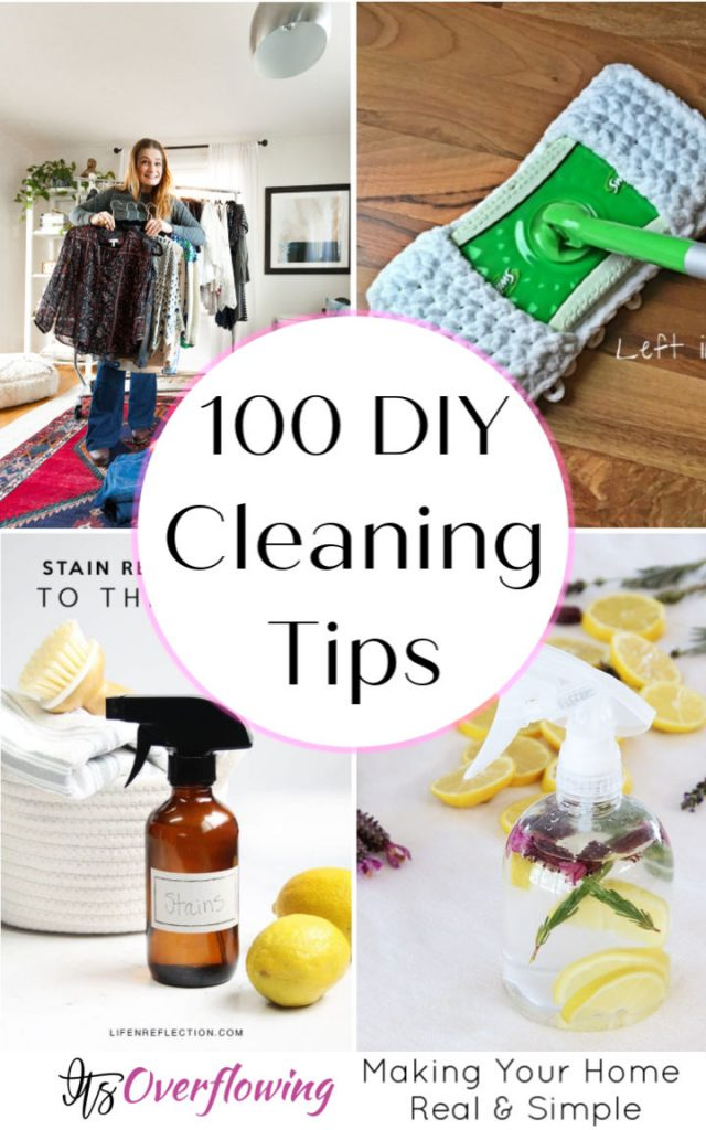 100 DIY Cleaning Tips Hacks You Wish You New Earlier