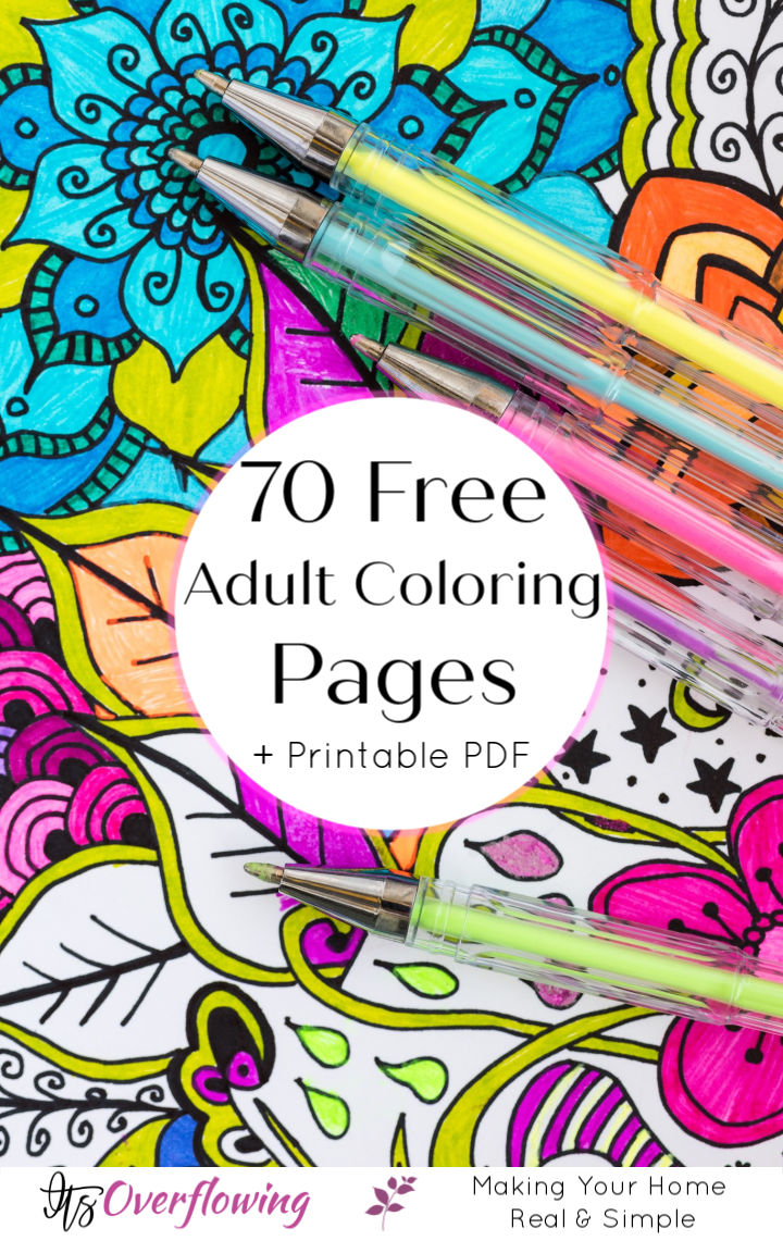 70 Free Adult Coloring Pages with Printable PDF