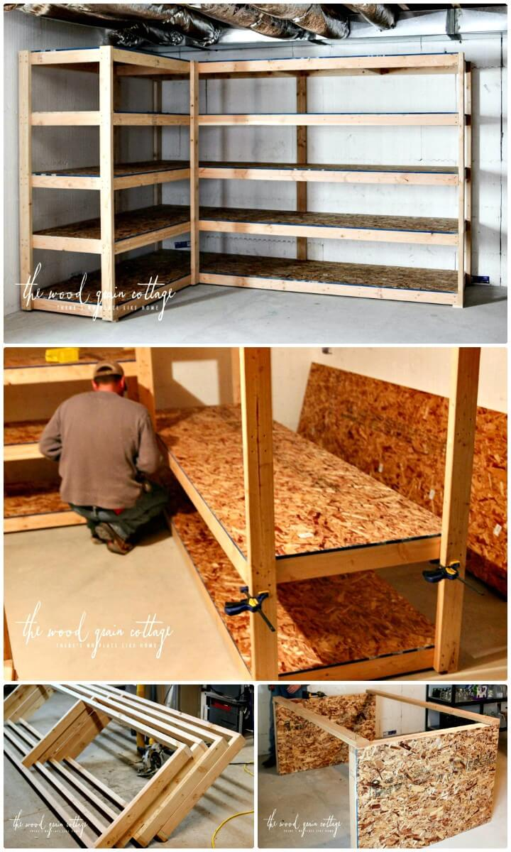 DIY Basement Shelving Step by Step Tutorial
