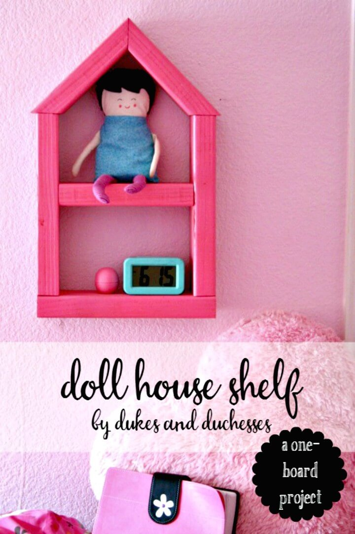 Fun DIY Doll House Wooden Shelf