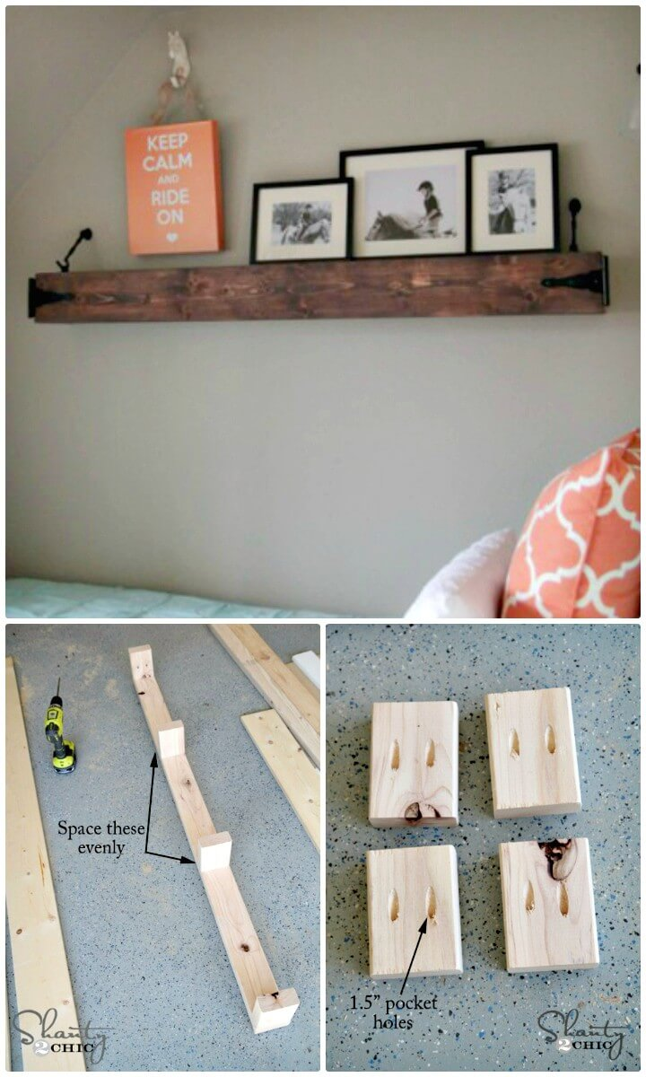 How to Make Floating Rustic Shelf Or Mantle - Adorable DIY Projects