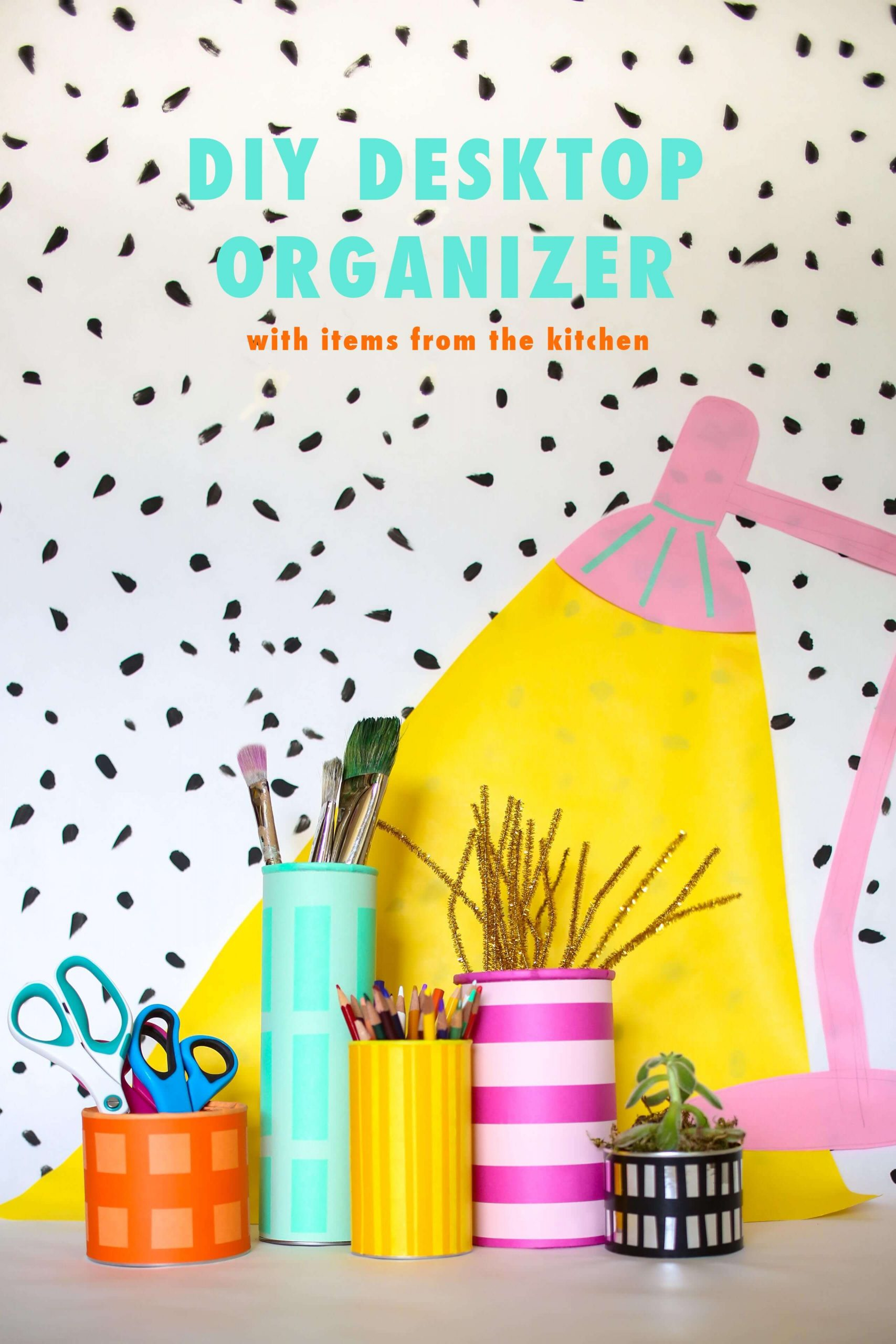 Adorable DIY Office Desk Organizer