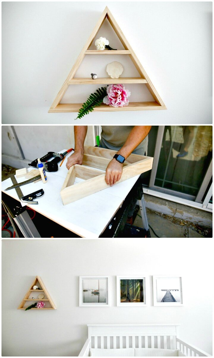 How To Make Triangle Wood Shelf - DIY